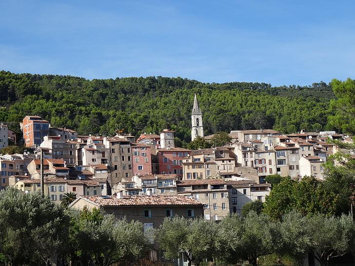 França, Provença, arquitectònic, edifici, arquitectura, poble, Callas