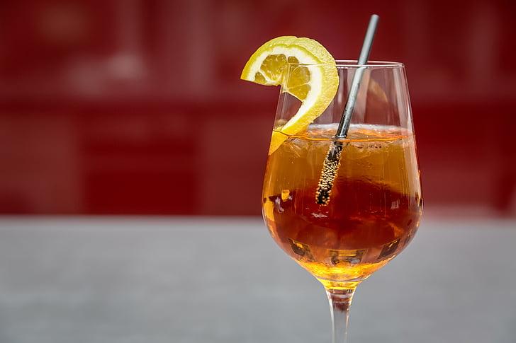 alkoholi, Aperol, jook, Citrusy, kokteil, kokteil klaasi, külm