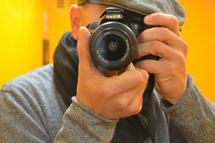 Nhiếp ảnh gia, nồng độ, Nikon, ống kính, gương