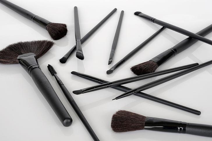 четка, Долива се, козметика, прилагане на, красота продукт, мода, грим