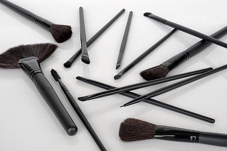 raspall, conformen, cosmètica, l'aplicació, producte de bellesa, moda, maquillatge
