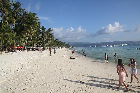 platja Boracay, platja, Mar