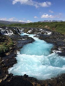 bruarfoss Kosk, juga, Island, loodus, vee, maastik, scenics