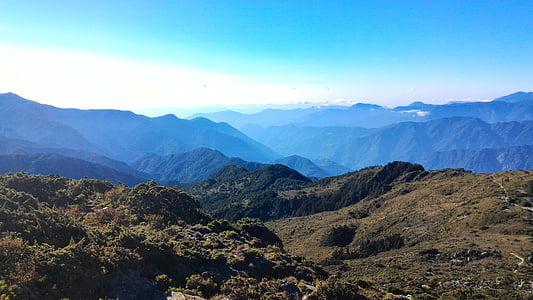 muntanya, Taiwan, natura, paisatge, Àsia, representacions, a l'exterior