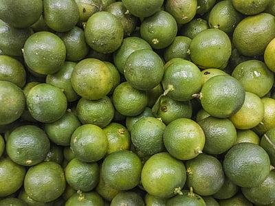 ライム, グリーン, 野菜, フルーツ
