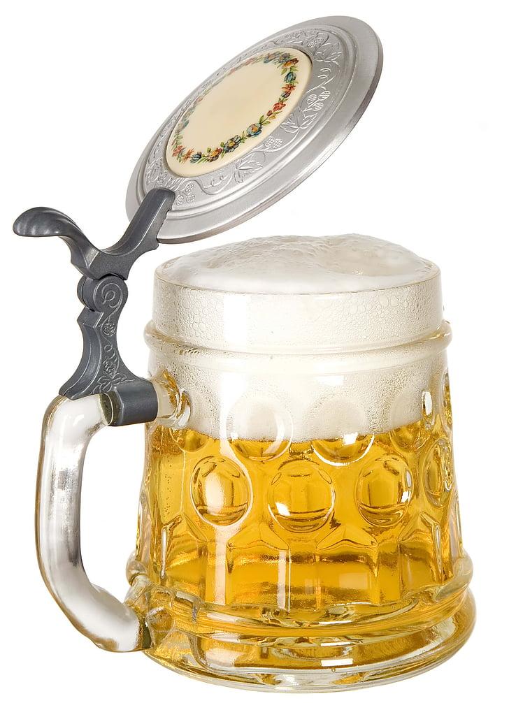 õlu, õllekann, vaht, janu, joodud, joogid, alkoholi