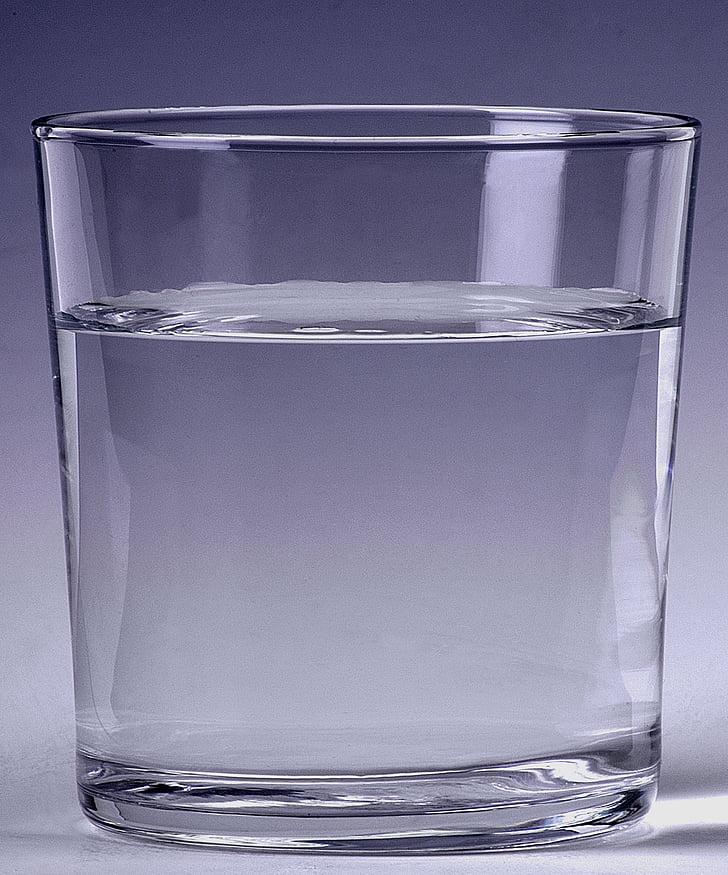 acqua, vetro, bere, liquido, vetro bevente, vetro - materiale, riflessione