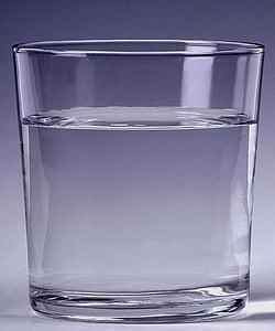 l'aigua, vidre, beguda, líquid, got d'aigua, vidre - material, reflexió