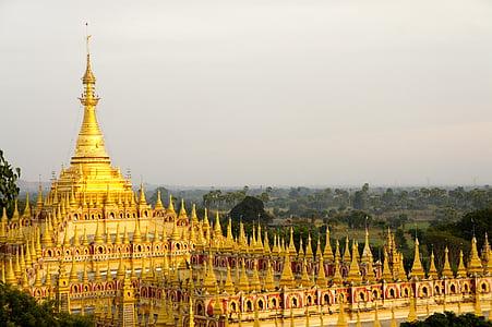 templet, guld, Asia, buddhismen, Southeast, Burma, Buddha
