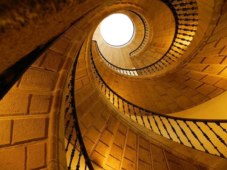 escala, hèlix, Galícia, Espanya, arquitectura, edifici, europeu