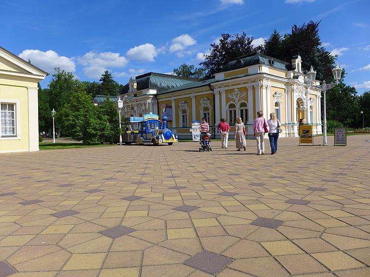Tsjekkia, Františkovy lázně, colonnade, Spa, rydder, tog, turisme