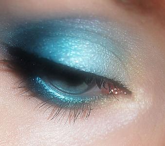 глаза, макияж, составляют, Косметика, вид, женщина, красивая