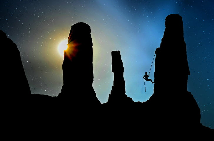 vuorikiipeilijä, kiivetä, urheilu kiipeilyä, vuorikiipeily, kiipeilijä, Bergsport, Secure