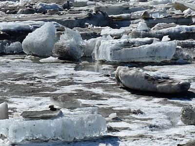 gel, Alaska, l'hivern, riu