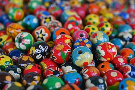 perles, joieria, fusta, Cadena, color, colors, Manipuli