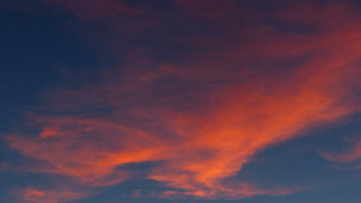 스카이, 구름, 레드, 붉은, abendstimmung, 저녁 하늘