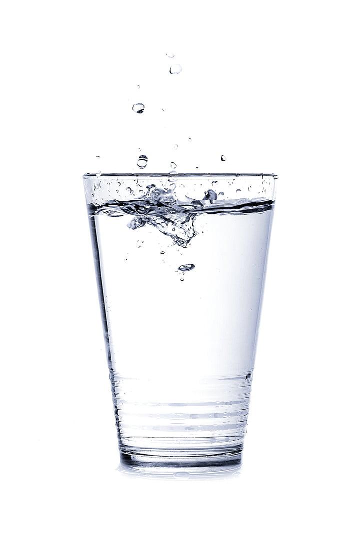 víz, üveg, csepegtető, ital, törölje a jelet, szomjúság, spray
