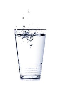 vatten, glas, DROPP, dryck, Rensa, törst, spray