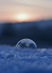 soap bubbles, frozen, frozen bubble, eiskristalle, wintry, cold, ball