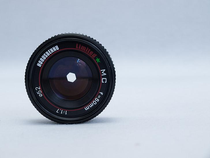 lent, càmera, Cànon, productes electrònics, fotos