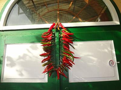 papriky, červená, paprika, pikantné, chili, horúce, rastlinné