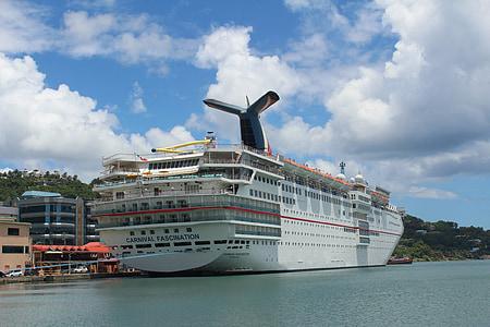 kryssning, båt, semester, Carnival, kryssningsfartyg, passagerarfartyg, nautiska fartyg