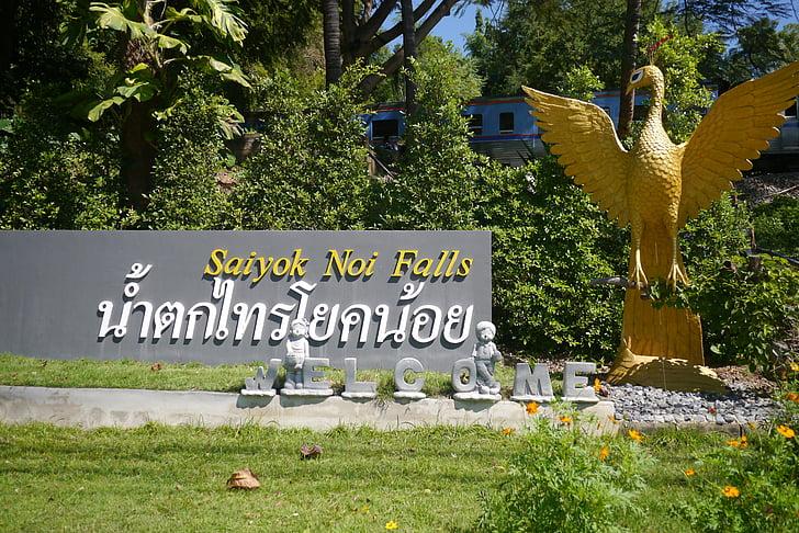 Yok noi esik, Thaiföld, Kanchanaburi, üdvözlet