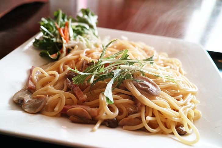 Restaurant, dieta, aliments, pastes, Espaguetis