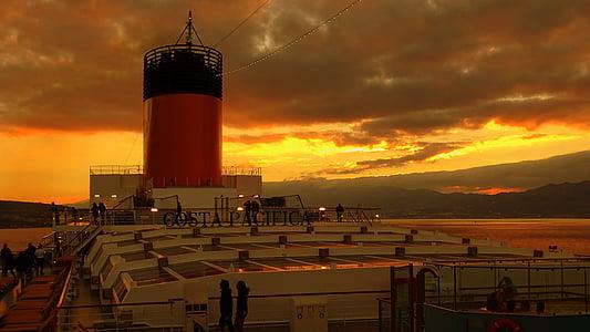 havet, kryssning, resor, kryssningsfartyg, sjöfart, ship reser, humör