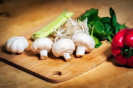 warzywa, jedzenie, świeży, zdrowe, diety, naturalne, zielony