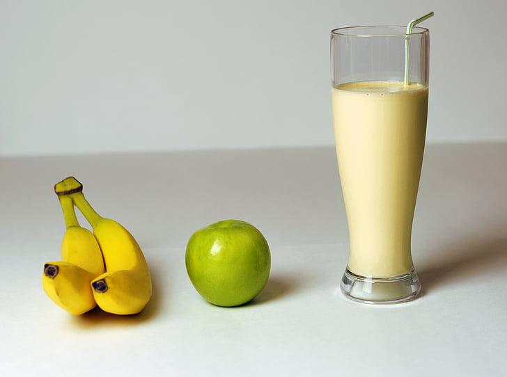 banaan, Apple, Smoothie, drankje, fruit, dieet, milkshake
