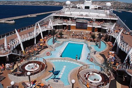 lyx, kryssning, Fantasia, fartyg, kryssningsfartyg, däck, lyxiga livsstil