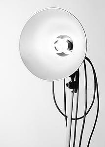lamp, black white, vertical, studio shot, no people, technology, close-up