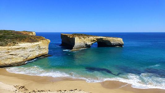 arc de Londres, Australie, route du grand océan, océan, paysage, plage, falaises