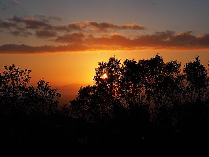 moln, Sky, solnedgång, passagen, solen, kvällen, romantiska