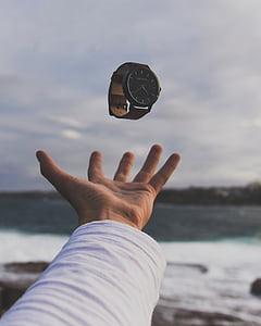 käsi, Palm, Watch, Ulkouima, Blur, Sea, Beach