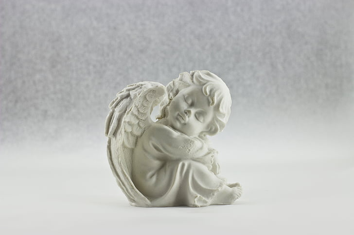 Angel, valkoinen, taivaan, siipi, Kaunis, eristetty, enkelien