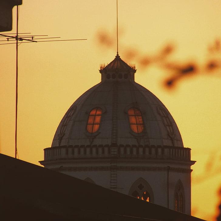 pastatas, šviesos, kupolas, Vakarų, Portugalija