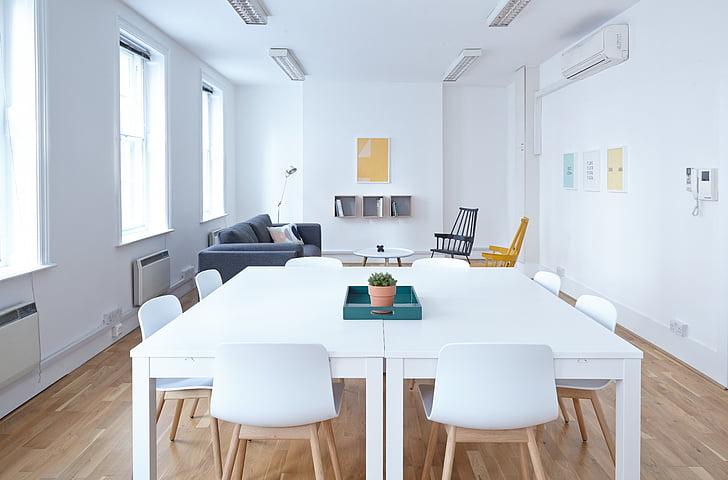 白色, 生活, 房间, 家具, 设置, 室内, 椅子