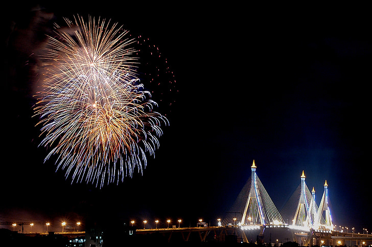 firework, festival, bangkok, thailand, celebration, festive