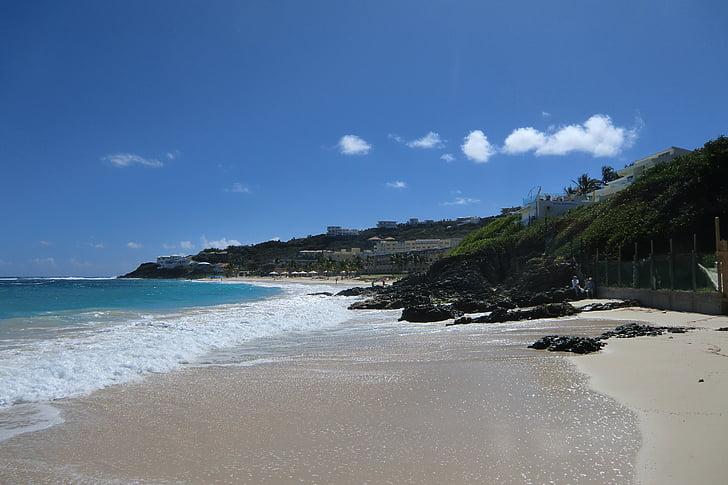 Karaiby, Plaża, Latem, wakacje, podróży, Ocean, Tropical