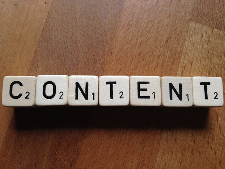 content, cube, text