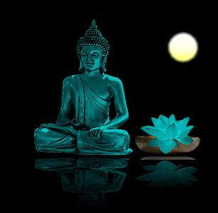 Buda, meditació, relaxació, meditar, budisme, benestar, calma interior