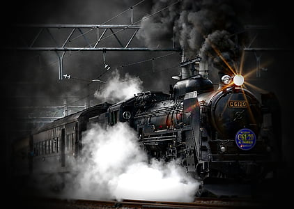 Stoomtrein, locomotief, oude, trein, oude, vervoer, Retro