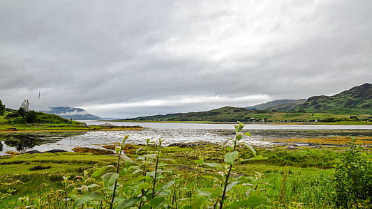 scotland, england, highlands and islands, clouded sky, atmospheric, water, historically