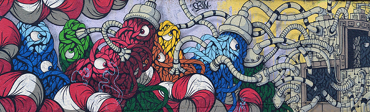 grafiti, ielu māksla, smidzinātājs, sienas gleznojums, pilsētas mākslas, māksla, Berlīne