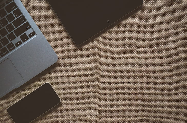 vlásie, vlásie textúrou, laptop, iPad, hnedá, textílie, organické