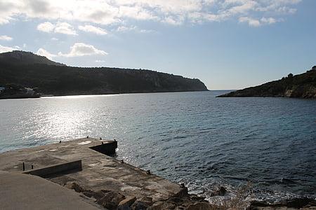 ηλιοβασίλεμα, στη θάλασσα, δίπλα στη θάλασσα, λιμάνι, Ήλιος και θάλασσα, βραδινό ουρανό, Δύση του ήλιου