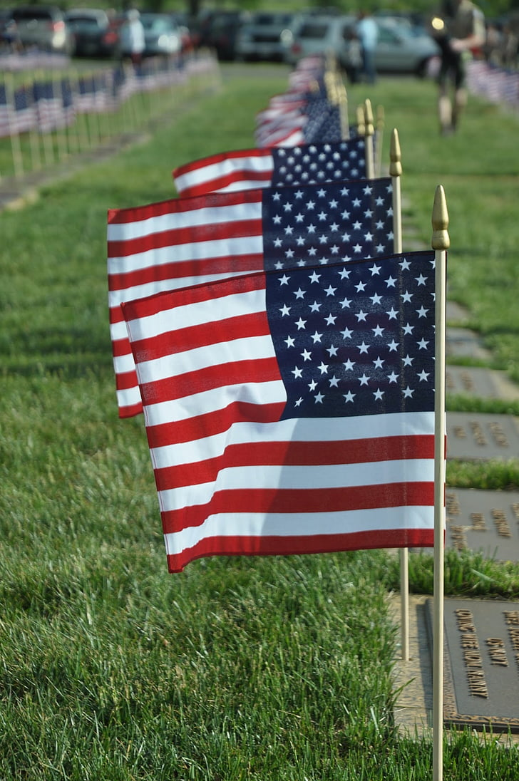 flag, uafhængighed, vinker, amerikanske flag, USA, patriotisme, Os Memorial Day
