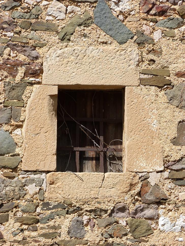 akna, baarid, vana, arhitektuur, seina kivi